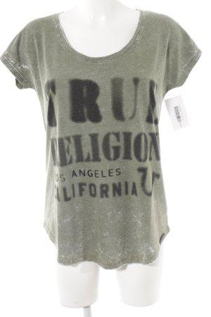 True Religion T-Shirt grüngrau Casual-Look