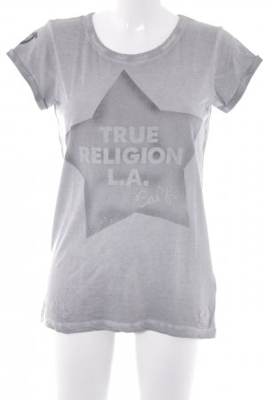 True Religion T-Shirt hellgrau-grau Motivdruck Casual-Look