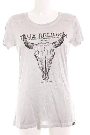 True Religion T-Shirt hellgrau platzierter Druck Casual-Look