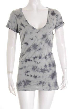 True Religion T-Shirt kornblumenblau-dunkelblau Batikmuster Casual-Look