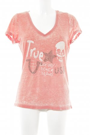 True Religion T-Shirt lachs meliert Casual-Look