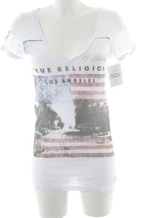 True Religion T-Shirt Motivdruck Casual-Look
