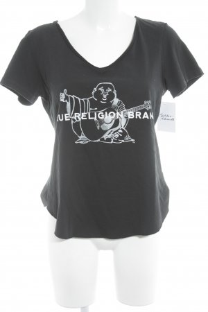 True Religion T-Shirt schwarz Casual-Look