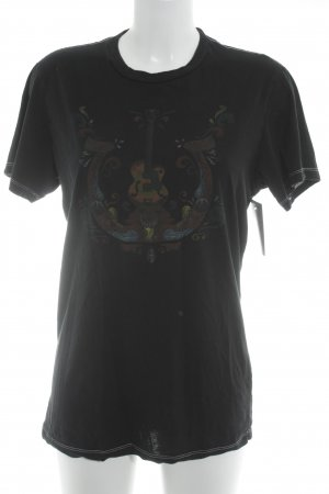 True Religion T-Shirt schwarz Motivdruck