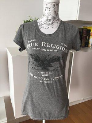 True Religion T-Shirt Shirt grau weiß Gr. M/L