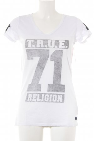True Religion T-Shirt weiß-grau Casual-Look