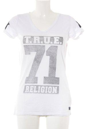 True Religion T-Shirt weiß-grau Casual-Look