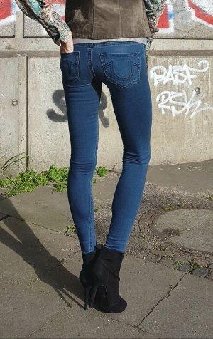 True Religion Jeans skinny grigio ardesia-blu fiordaliso