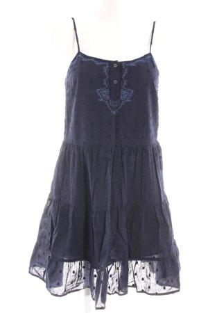 True Religion Trägerkleid dunkelblau Punktemuster Casual-Look