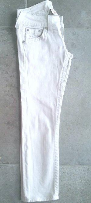 True Religion , weiße 7/8 Jeans mit Swarowki- Steinchen,Gr.25