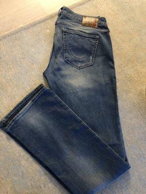 True Religion Boot Cut spijkerbroek azuur-donkerblauw Katoen