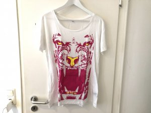 True Shirt Tiger M L 38 40 Oversize Tshirt Top weiß pink