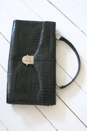 true vinage...elegante Ledertasche, Handtasche, Kroko