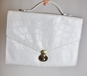 Vintage Briefcase white-gold-colored imitation leather
