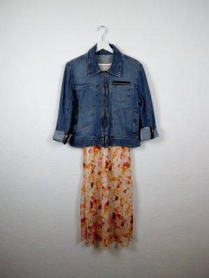 true vintage 80's jeansjacke S 38 jeans blau