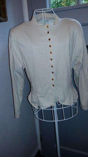 True Vintage 80er Bluse Schulterpolster Gr 36 tailliert Puffärmel