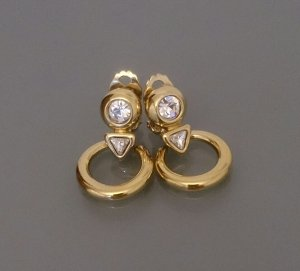 Vintage Earclip white-gold-colored