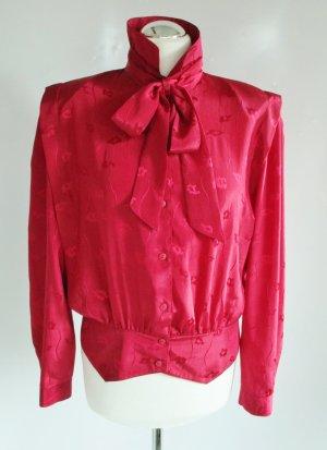 Vintage Blusa collo a cravatta multicolore Poliestere