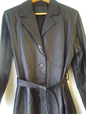 True Vintage 80er TOP Zustand Leder Mantel Ledermantel Trenchcoat mit Gürtel