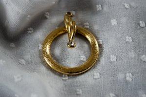 True Vintage Anhänger Kettenanhänger Preppy Gold Strass Modeschmuck