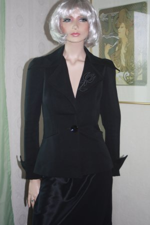 True Vintage Blazer 34 schwarz Blacky Dress