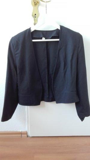 True Vintage Blazer Bolero blau Jacke 42 XL 40 L dunkelblau Jäckchen