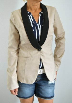 True Vintage Blazer Business Preppy Beige Jäckchen Chic 80s