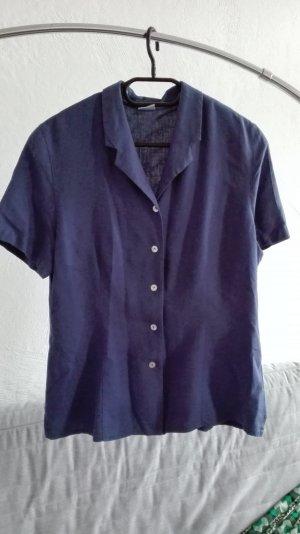 True Vintage Bluse blau oversize M 38 L 40 locker