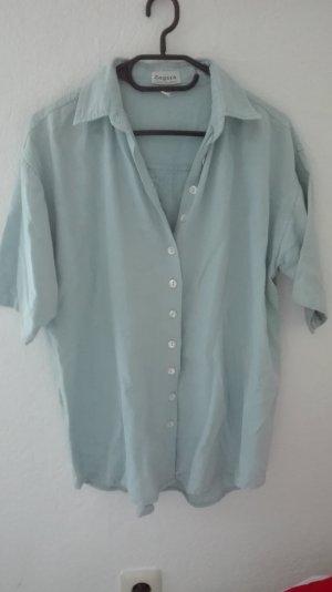True Vintage Bluse hellblau oversize M 38 L 40 locker