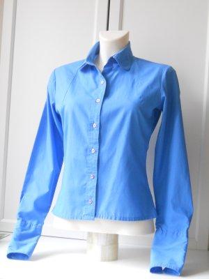 True Vintage Bluse Hemd mit Dackelkragen Gr. 36/38