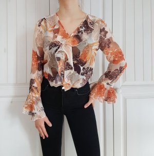 Vintage Blouse transparente multicolore
