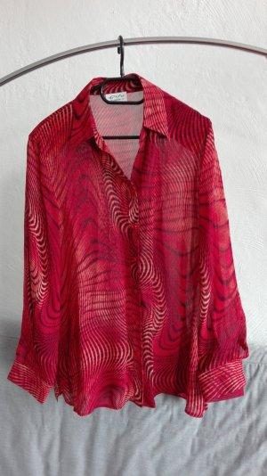 True Vintage Bluse rot oversize M 38 L 40 locker