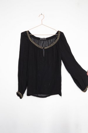 True Vintage / Bohemian Sheer Shirt mit Ballonärmeln