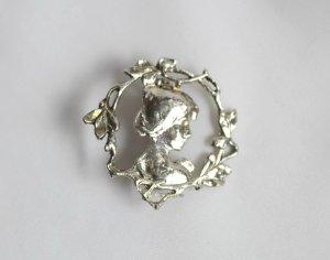 Vintage Brooch silver-colored