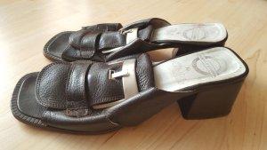 True Vintage Buffalo London Leder Pantolette Sandaletten 80er 90er