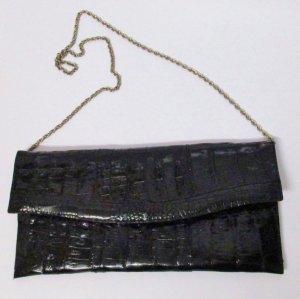 Vintage Borsa clutch nero-argento Pelle