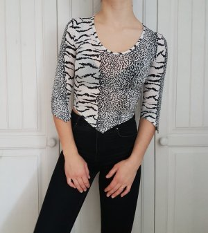 True Vintage Crop Top Croptop leo Tiger Shirt tshirt T-shirt bluse hemd pulli pullover sweater