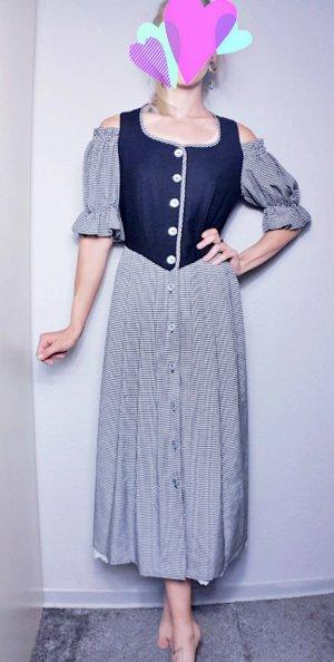 True Vintage Dirndl, Trachtenkleid lang, Oktoberfest, Bauernkleid, wiesn