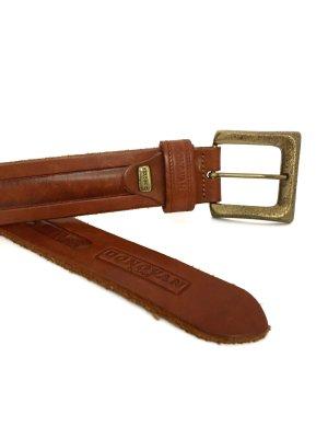 Cintura di pelle cognac