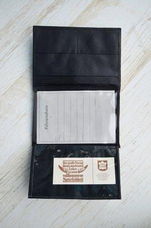 Vintage Kaartetui zwart Leer