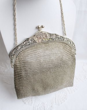 Vintage Frame Bag silver-colored