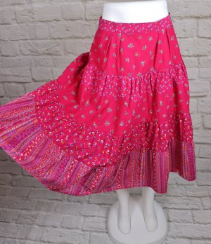 Vintage Broomstick Skirt multicolored cotton