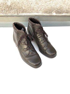 True Vintage Gabor Schnürstiefeletten Ankle Boots Lace Up Leder