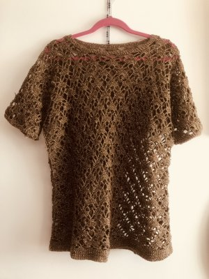 True Vintage Häkelpulli Gold Hippiechic S/M 38-40 top