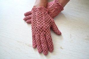 Vintage Net handschoenen veelkleurig