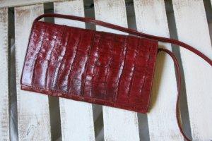 True vintage Handtasche/Clutch echt Kroko, IRV