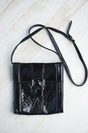 True Vintage Handtasche Lack Lackleder Kunstleder Achtziger L.Credi Umhängetasche