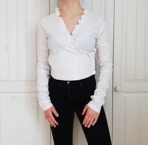 True Vintage Hemd Bluse weiß Oversize 38 Flanel Flannel Top Pulli Pullover Hoodie