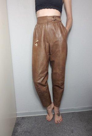 Vintage Pantalón de cuero multicolor