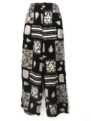 True Vintage Highwaist Hose Straight Cut Hippie Festival Style Muster Print